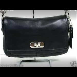 Coach Black Leather shoulder Bag BNWT